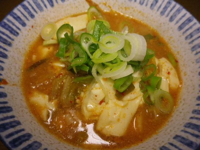 キムチ豆乳豆腐チゲ