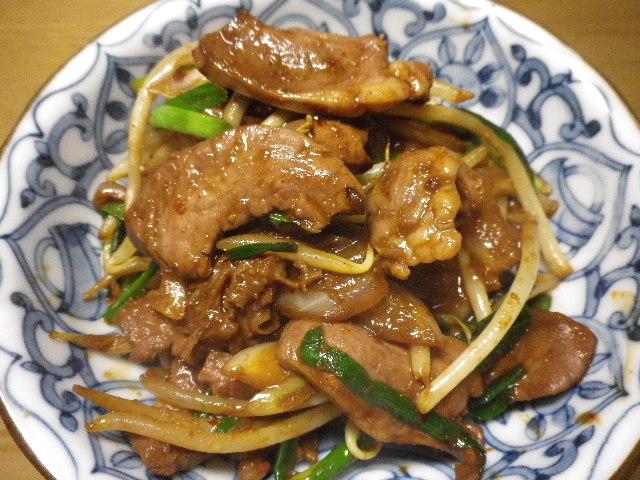豚タン味噌炒め