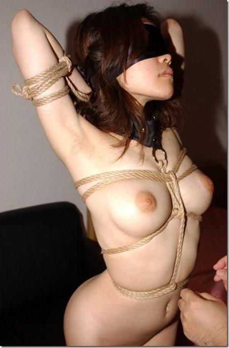 縛られて勃起する乳首に感動SM画像