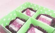 紫芋のチョコ石鹸