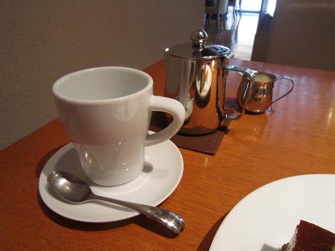 コーヒーポットで
