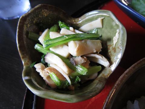 きのこと小松菜のおひたし