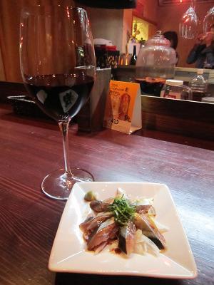 赤ワインと秋刀魚のフィレ