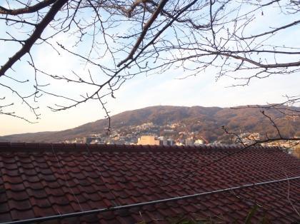 うちからの眺め生駒山