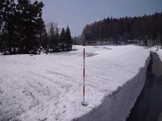 20120424 希望湖周辺の積雪