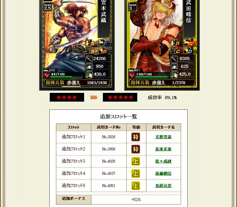 ★4→5 特x2 + 上x3