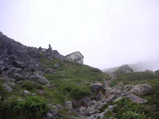 山荘が見えた・・