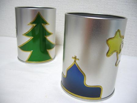 クリスマス アルミ缶1