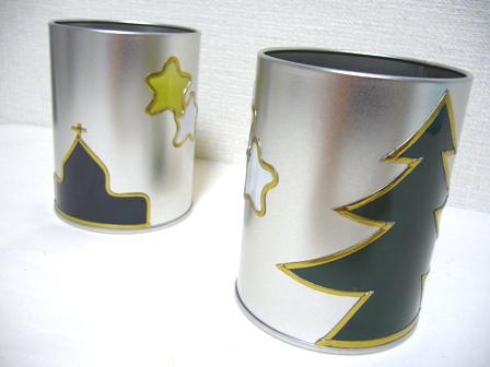 クリスマス アルミ缶2