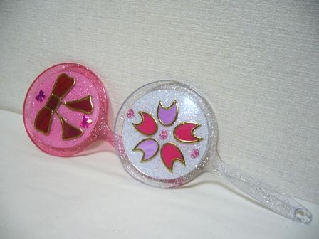 手鏡 りぼんと桜