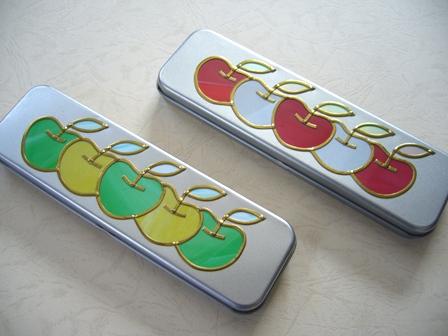 りんご 缶ペンケース