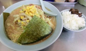 野菜ラーメン(味噌)+半ライス