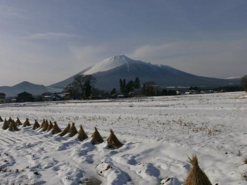 岩手山冬景色