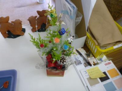クリスマスツリーのモニュメント