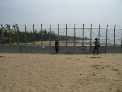 辺野古の米軍基地の金網