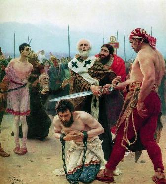 「サンタ・クロース」のモデル ミラの聖ニコラオス 「無実の三人を死刑から救う」
