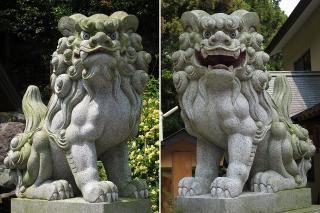 猿田彦三河神社の狛犬