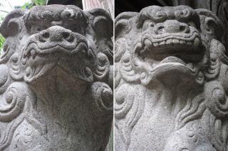 矢作神社の狛犬