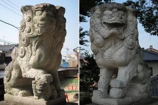 八剱神社の狛犬