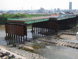 矢作橋仮橋