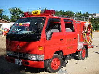三島消防団 第4部 小型動力ポンプ積載車