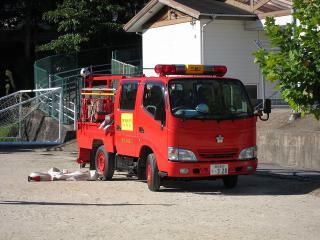 三島消防団 第2部 小型動力ポンプ積載車