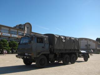 豊川駐屯地 第3大隊 3 1/2tトラック(73式大型トラック)&1t水タンクトレーラ