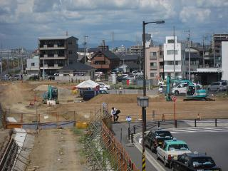 JR 岡崎駅前 工事