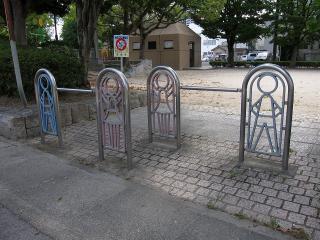 公園の車止め
