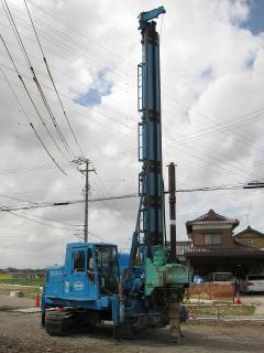 日本車両 鋼管杭回転圧入施工機 DHJ-15