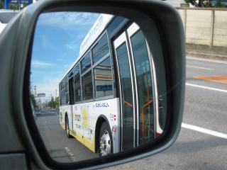 名鉄バス ハイブリッドバス マナカラッピング