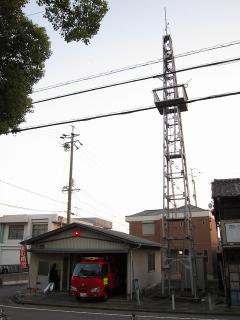 岡崎市柱六丁目の火の見櫓