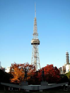 秋のテレビ塔
