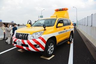 名古屋高速道路全線開通記念 わくわくサンキューウォーク 点検隊 道路パトロールカー