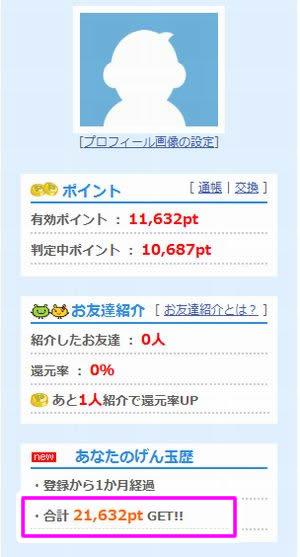 2012年10月げん玉の報告(開始1ヶ月め)