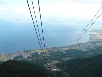 ロープウェイから見た琵琶湖