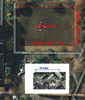 球技場の面積