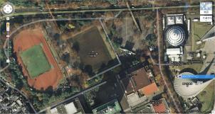 代々木公園航空写真オリジナル