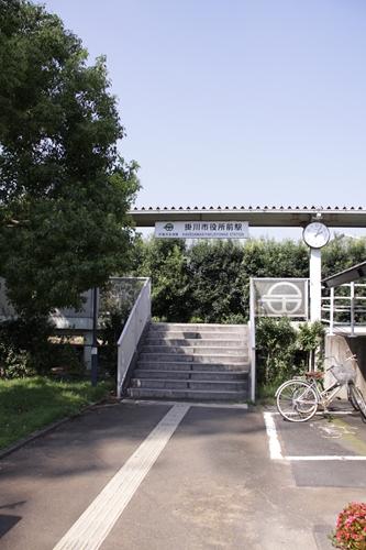 掛川市役所前駅入口