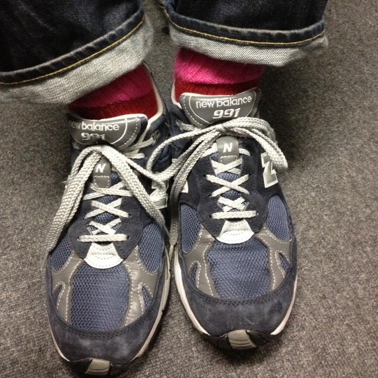 ニューバランス991×アンティパストの靴下