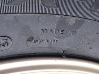 今度のタイヤはスペイン製