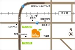 オレンジ地図