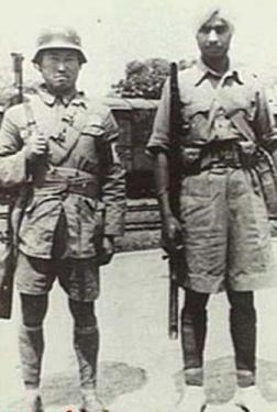 chinese nationalist army soldier and a british army indian soldier in burma, 1942