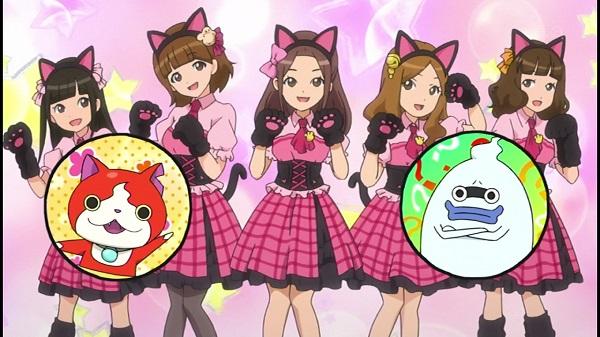 ゲームアニメ 妖怪ウォッチ 3年Y組ニャンパチ先生 1話 モノマネキン ニャーKB フササ