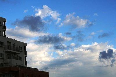 白い雲&グレーの雲★