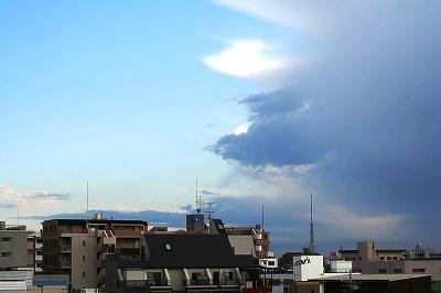 白い雲&グレーの雲☆