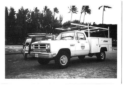 b&w city county truck