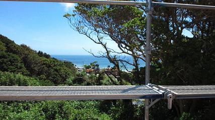 海の見える家 景色