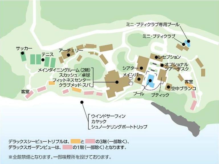 クラブメッド石垣島マップ