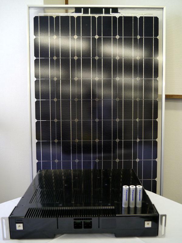 EMERALD ACEに搭載されたHIT太陽光パネルとバッテリーモジュール
